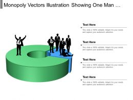 Monopoly Vectors Illustration Showing One Man Superior To Others
