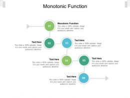 Monotonic Function Ppt Powerpoint Presentation Visual Aids Summary Cpb