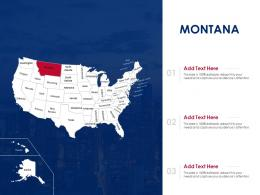 Montana Map Powerpoint Presentation PPT Template