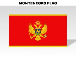 Montenegro Country Powerpoint Flags