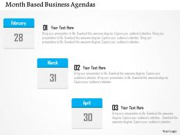 Month Based Business Agendas Flat Powerpoint Design