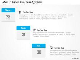 month_based_business_agendas_flat_powerpoint_design_Slide01