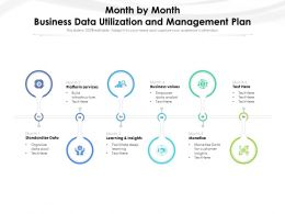 Month By Month Business Data Utilization And Management Plan