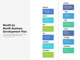 Month By Month Business Development Plan