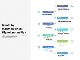 Month By Month Business Digitalization Plan