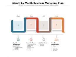 Month By Month Business Marketing Plan