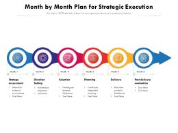 Month By Month Plan For Strategic Execution