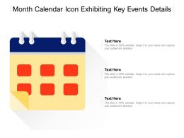 Month Calendar Icon Exhibiting Key Events Details