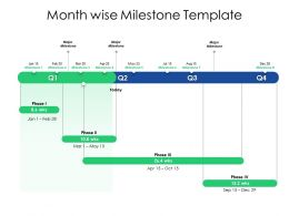 Month Wise Milestone Template Ppt Powerpoint Presentation Professional
