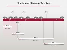 Month Wise Milestone Timeline Ppt Powerpoint Presentation Ideas