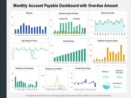 Monthly Account Payable Dashboard With Overdue Amount
