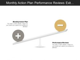 Monthly Action Plan Performance Reviews Exit Strategies Presentation Skills