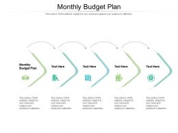 Monthly Budget Plan Ppt Powerpoint Presentation Sample Cpb