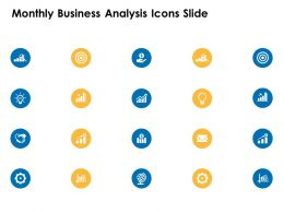 Monthly Business Analysis Icons Slide Gear Growth C359 Ppt Powerpoint Themes