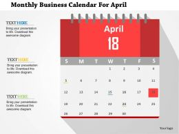 monthly_business_calendar_for_april_flat_powerpoint_design_Slide01