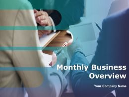 Monthly Business Overview Powerpoint Presentation Slides