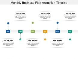 Monthly Business Plan Animation Timeline