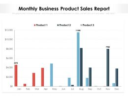 Monthly Business Product Sales Report