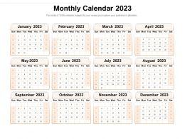 Monthly Calendar 2023