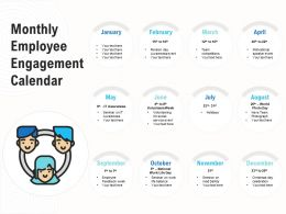 Monthly Employee Engagement Calendar