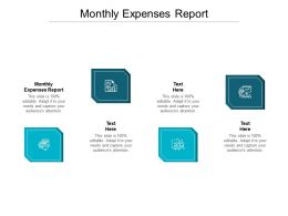 Monthly Expenses Report Ppt Powerpoint Presentation Icon Show Cpb
