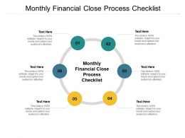Monthly Financial Close Process Checklist Ppt Powerpoint Presentation Infographic Template Examples Cpb