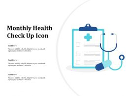 Monthly Health Check Up Icon