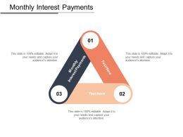 Monthly Interest Payments Ppt Powerpoint Presentation Layouts Examples Cpb