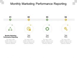 Monthly Marketing Performance Reporting Ppt Powerpoint Presentation Slides Guide Cpb