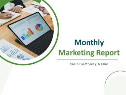 Monthly Marketing Report Powerpoint Presentation Slides