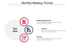 Monthly Meeting Format Ppt Powerpoint Presentation Outline Graphics Tutorials Cpb