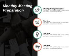 Monthly Meeting Preparation Ppt Powerpoint Presentation File Design Inspiration Cpb