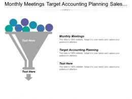 Monthly Meetings Target Accounting Planning Sales Process Methodology