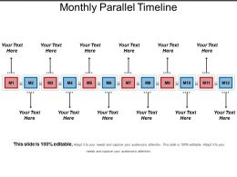 Monthly Parallel Timeline