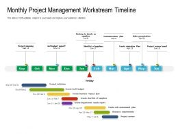 Monthly Project Management Workstream Timeline