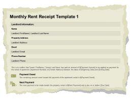 Monthly Rent Receipt Template L2044 Ppt Powerpoint Presentation File Design Ideas