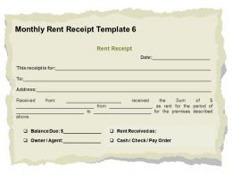Monthly Rent Receipt Template L2045 Ppt Powerpoint Slides Designs Download