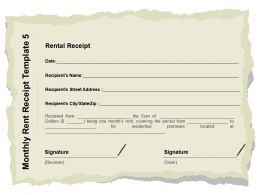 Monthly Rent Receipt Template Street Ppt Powerpoint Presentation Layouts Outline