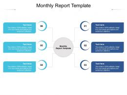 Monthly Report Template Ppt Powerpoint Presentation Gallery Infographic Template Cpb