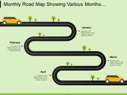 Monthly Road Map Showing Various Months And Tasks To Cover