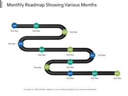 Monthly Roadmap Showing Various Months