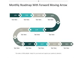 Monthly Roadmap With Forward Moving Arrow