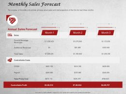 Monthly Sales Forecast Ppt Powerpoint Presentation Example 2015