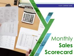 Monthly Sales Scorecard Powerpoint Presentation Slides