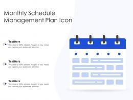Monthly Schedule Management Plan Icon