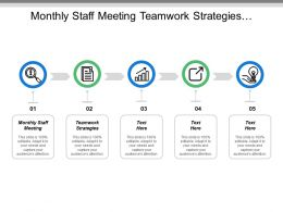Monthly Staff Meeting Teamwork Strategies Employee Engagement Recession Planning