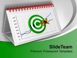 Monthly Target Report Chart For Business PowerPoint Templates PPT Themes And Graphics 0313