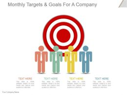 Monthly Targets And Goals For A Company Powerpoint Slide Inspiration