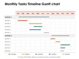 Monthly Tasks Timeline Gantt Chart Ppt Powerpoint Presentation Portfolio Summary