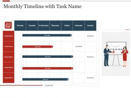 Monthly Timeline With Task Name Strategic Initiatives Prioritization Methodology Stakeholders